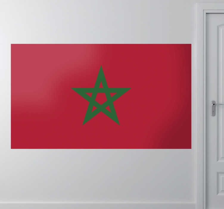TenStickers. Morocco Flag Sticker. Decals - The Moroccan flag. Morocco, located in North Africa. Ideal for homes or businesses.