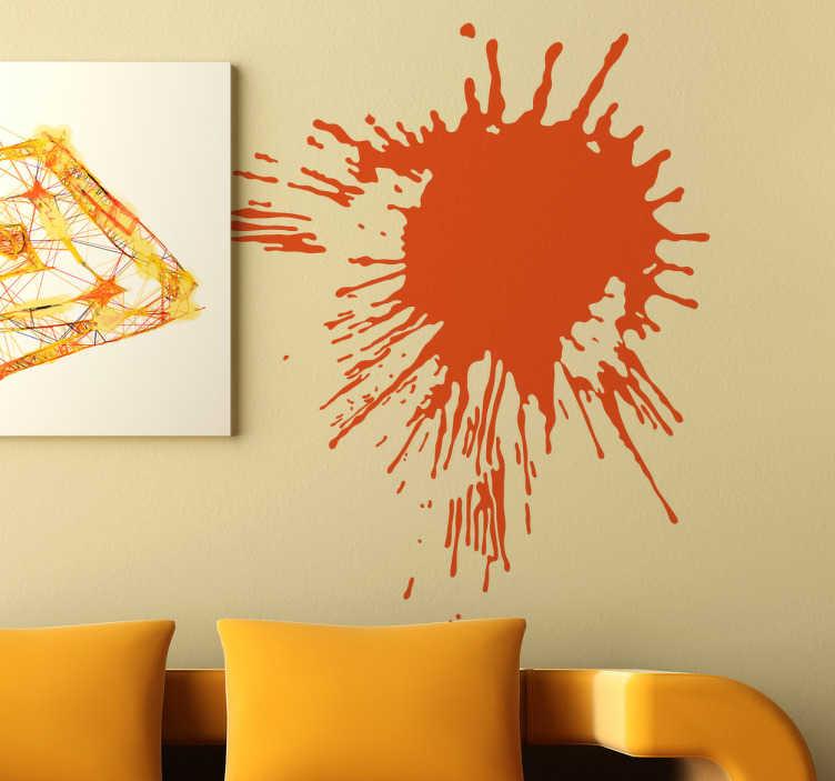 TenStickers. Naklejka dekoracyjna kleks 10. Naklejka przedstawiająca artystyczny kleks w formie rozprysku farby, którym możesz udekorować puste przestrzenie w Twoim domu.