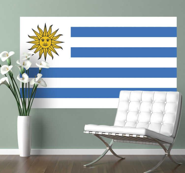 Vinilo decorativo bandera Uruguay