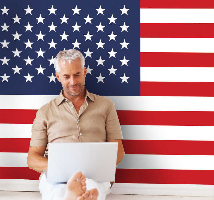 Adesivo murale bandiera USA