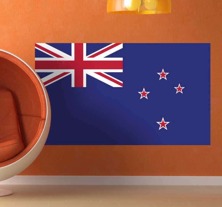 TenStickers. New Zealand Flag Sticker. Decals - The New Zealander flag. Ideal for homes or businesses. Kiwi feature suitable for personalising gadgets and appliances.