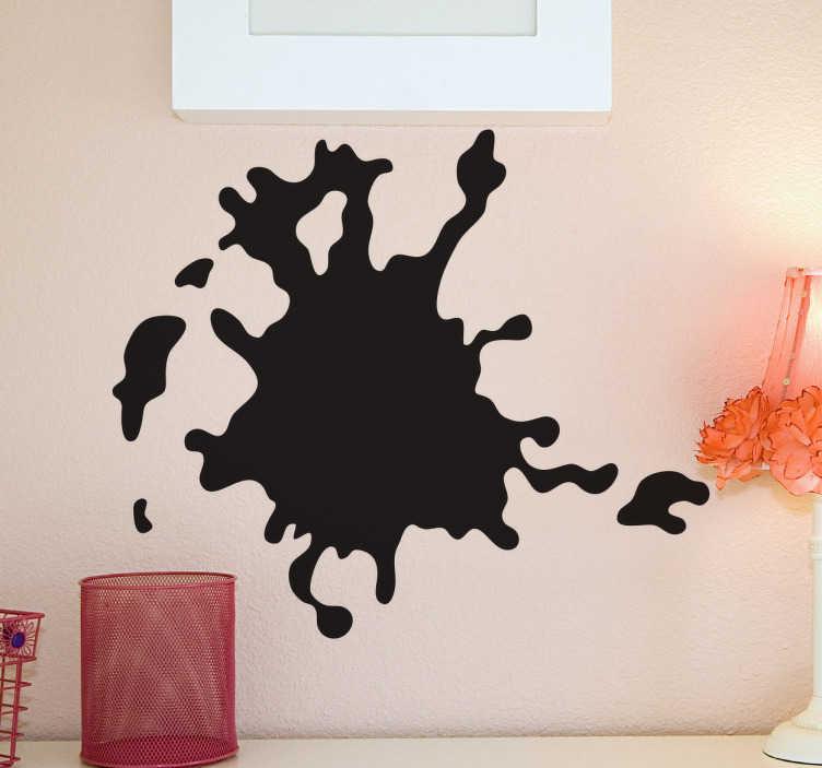 TenStickers. Sticker vlek muur. Met deze muursticker doe je schijnen alsof er een grote spat verf op je muur, deur of raam bevindt. Bepaal zelf de gewenste grootte en kleur.