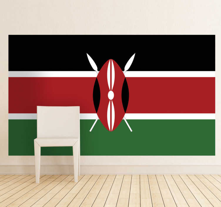 TenStickers. Kenya Flag Sticker. Decals - The Keyan flag. The Republic of Kenya, located in East Africa. Ideal for homes or businesses.