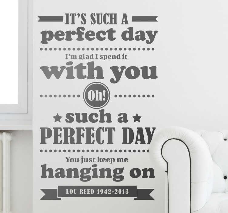 Naklejka Perfect day