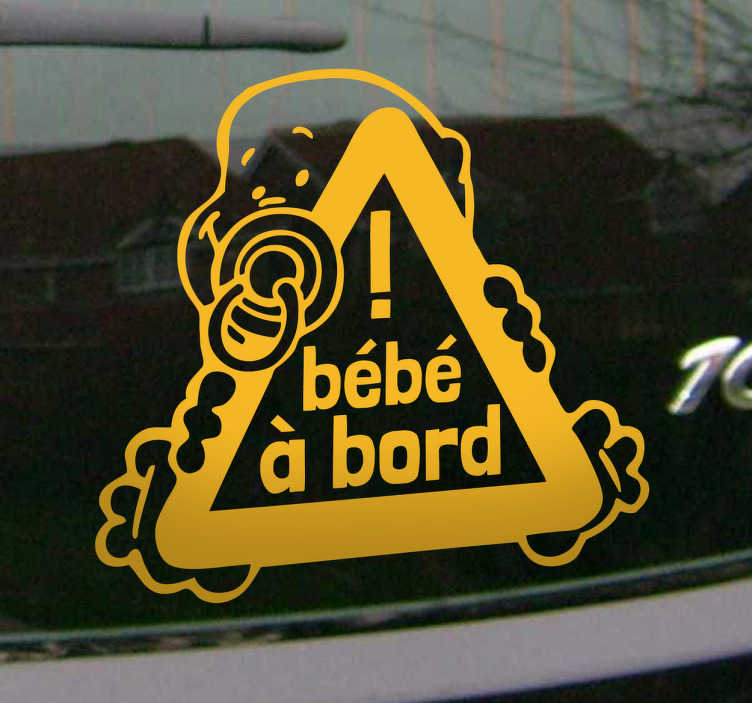 Sticker bébé à bord tétine