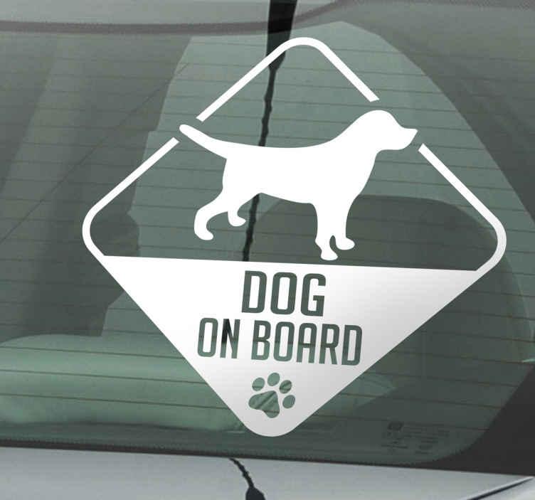 Sticker decorativo dog on board