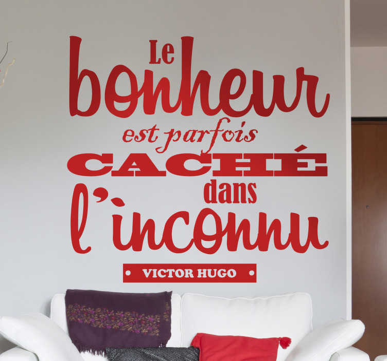 Vinilo decorativo cita Victor Hugo