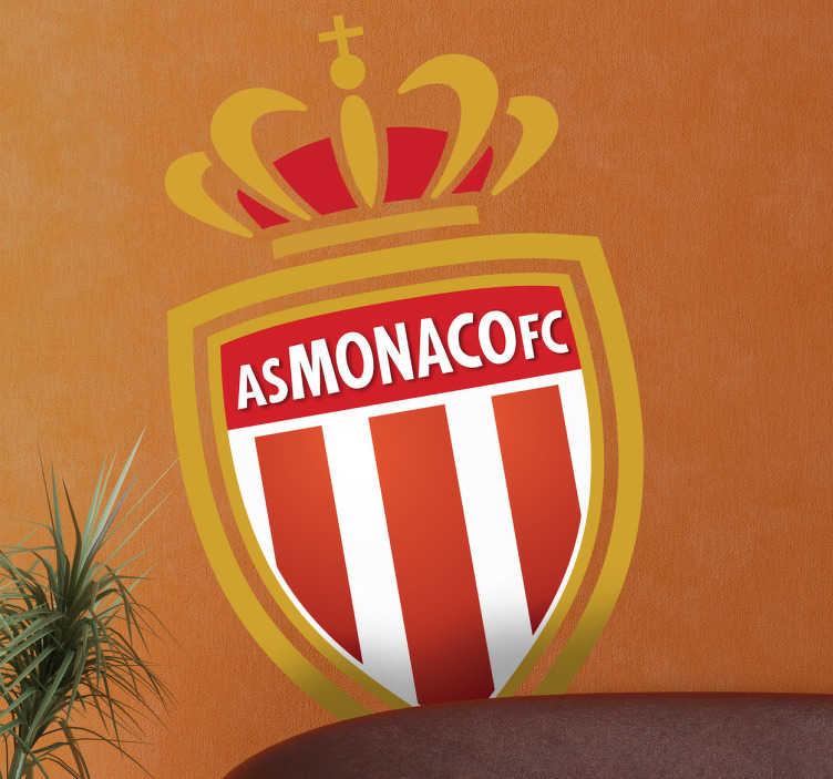 TenVinilo. Adhesivo escudo AS Monaco. Pegatina con el característico escudo del famoso equipo monegasco.
