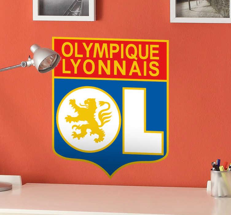 TenVinilo. Adhesivo escudo Olympique Lyonnais. Pegatina especial para todos aquellos aficionados al histórico club francés de Lyon.