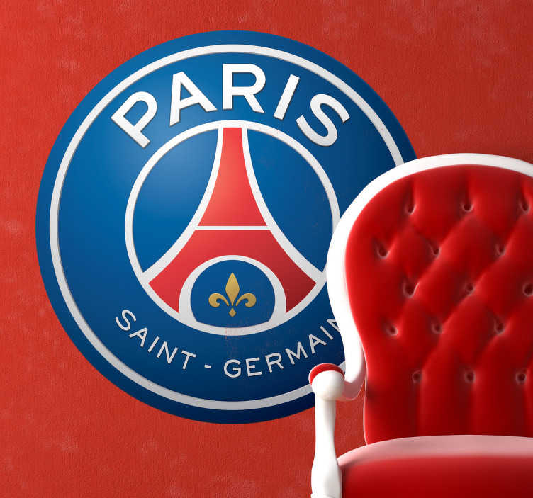 TenStickers. Sticker Paris Saint Germain. Decoreer uw huis met deze Paris Saint Germain muursticker. Perfect voor de voetbalfan.