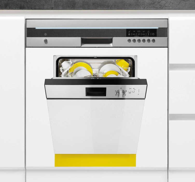 TENSTICKERS. 食器洗い機デカール. 食器洗い機のステッカー - 食器洗い機を別の食器洗い機のイメージで飾ることによって、他人を混乱させるユニークなデザイン!