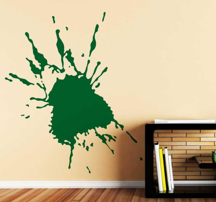 TenStickers. Naklejka dekoracyjna kleks 14. Naklejka dekoracyjna w stylu abstrakcji przedstawiająca kleks farby na ścianie. Wprowadż elementy abstrakcji do Twojego domu!