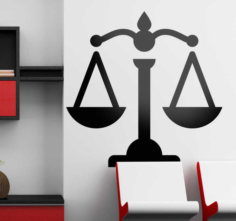 Sticker pictogramme justice