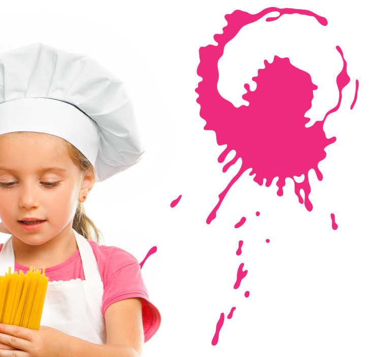 TenStickers. Sticker silhouette roze. Een vrolijke sticker van een silhouetten. Deze moderne vormen kunt u schitterend gebruiken ter decoratie van uw muren.