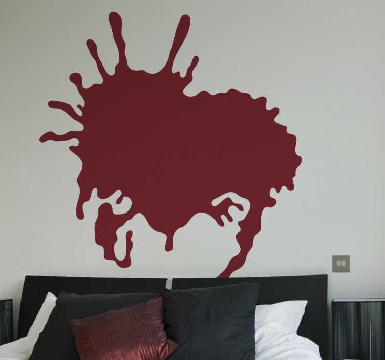 TenStickers. Sticker decorativo macchie 16. Adesivo murale che raffigura una grossa macchia di vernice. Ideale per decorare mobili, elettrodomestici o pareti di casa.