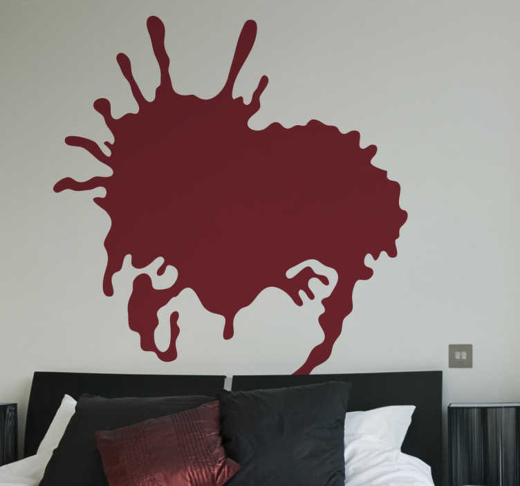 TenStickers. 현대 미술 추상 스플래시 거실 벽 장식. 이 현대적인 아트 월 스티커는 당신의 가정에 적합하고 특별한 방법으로 관심을 끌 것입니다.