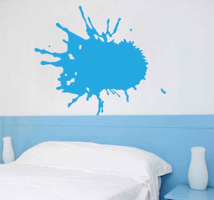 TenStickers. Muursticker Water Splash. Decoratiesticker van een water splash als decoratie voor de badkamer of toilet van uw woning. Kleur en formaat aanpasbaar. Snelle klantenservice.
