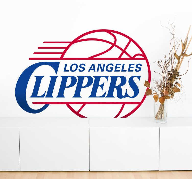 TenStickers. Sticker logo LA Clippers. Sticker mural de la célèbre équipe de NBA Clippers Los Angeles.