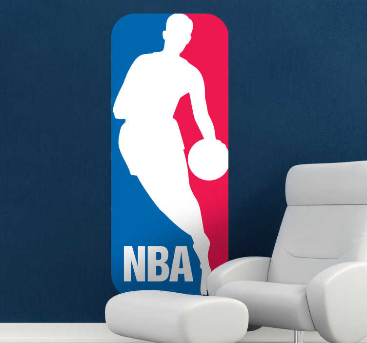 TenStickers. NBA Logo Sticker. Great logo wall sticker of the national basketball league in the United States, the NBA. Brilliant basketball decal for those sport lovers!