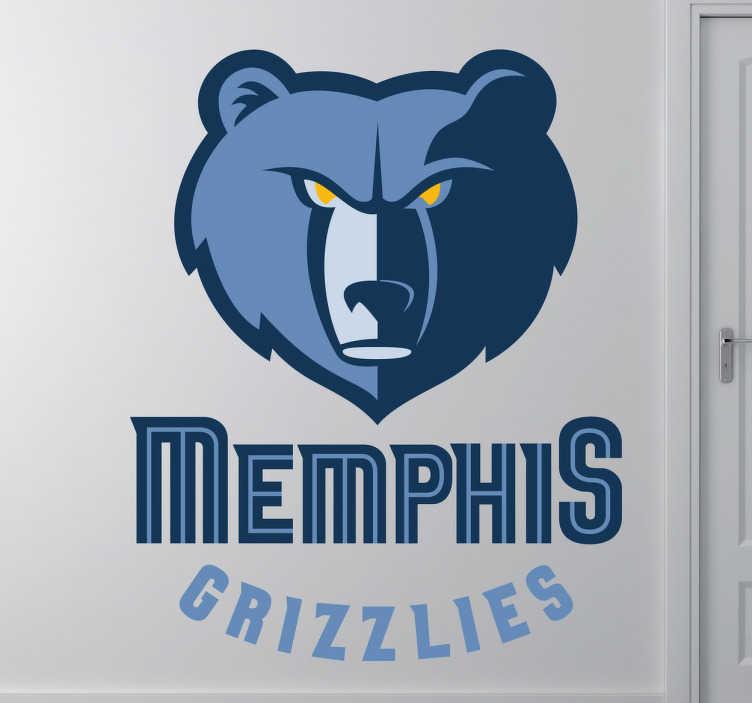 TenStickers. Autocollant logo Memphis Grizzlies. Logo adhésif de l'équipe américaine mythique de la NBA, basée dans le Tennessee. Stickers autocollant idéal pour les fan de cette équipe.