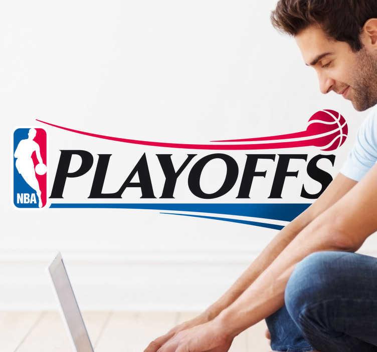 TenVinilo. Vinilo decorativo playoffs NBA. Espectacular adhesivo con el logo de los partidos especiales que se juegan cada año en la liga nacional de basket americana.