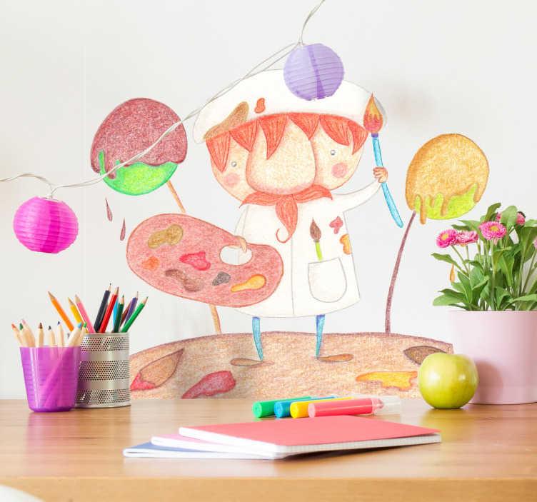 Naklejka dla dzieci malarz