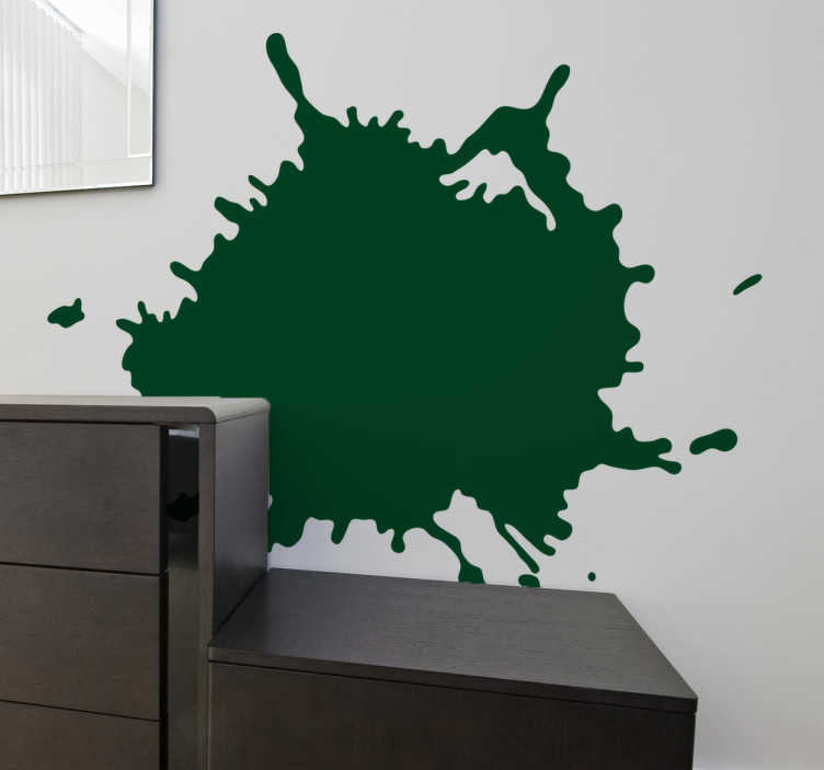 TenStickers. Splat Silhouette Sticker. Abstract sticker with a modern touch to decorate the walls and rooms in your home. This art design simulates a paint splat.