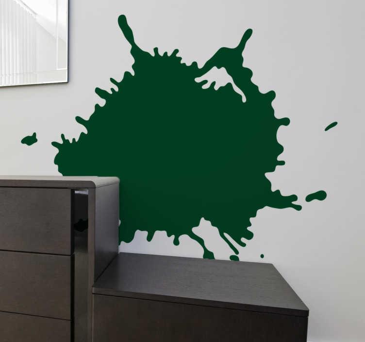 TENSTICKERS. 感嘆符のシルエットステッカー. あなたの家の壁や部屋を飾るモダンなタッチの抽象的なステッカー。このアートデザインは、ペイントスプラットをシミュレートします。
