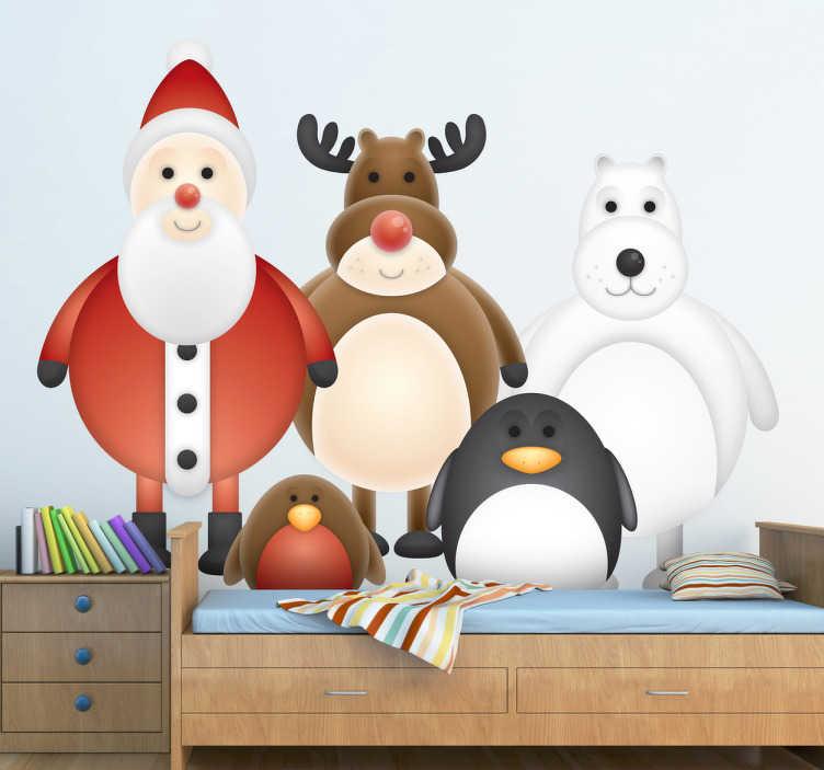 Sticker dessins personnages hivernaux