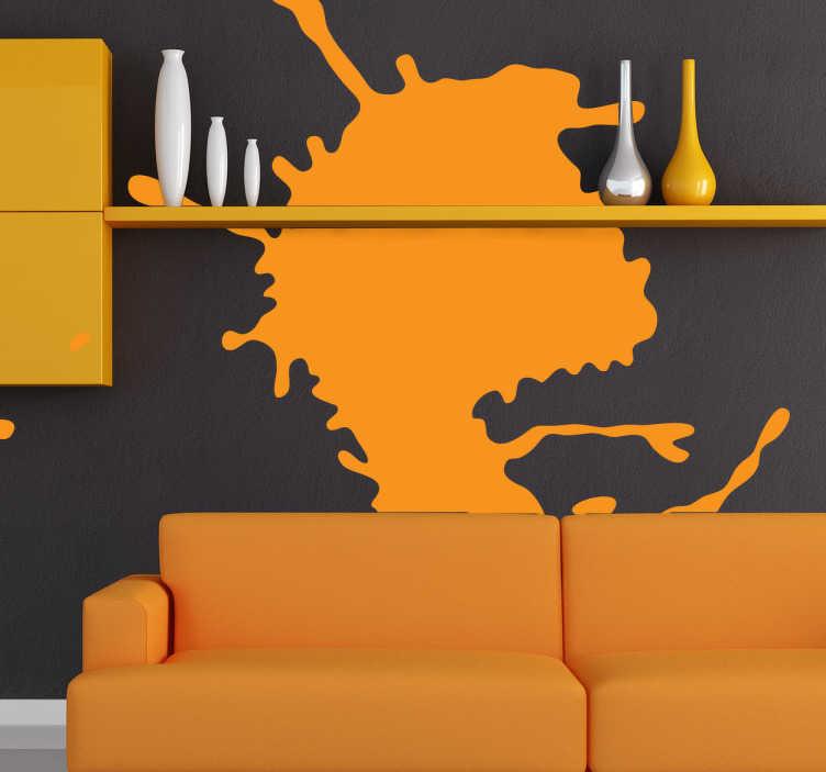 TenStickers. Sticker silhouette oranje. Een abstracte silhouet sticker die een stijlvol en eigentijds tintje toevoegen aan de muren van uw huis.