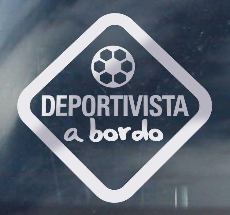 """TenVinilo. Adhesivo decorativo deportivista a bordo. Vinilo de coche para los aficionados al Depor.*Si quieres colocarlo por dentro del cristal selecciona """"orientación invertida""""."""