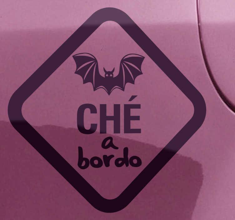 TenVinilo. Adhesivo decorativo valencianista a bordo. Vinilo pensado para coches para los auténticos aficionados al Valencia CF.