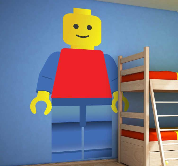 TenStickers. Adesivo bambini omino lego. Sticker decorativo ispirato al gioco di costruzioni piú famoso al mondo.