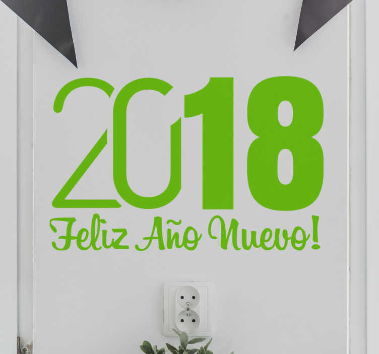 TenVinilo. Vinilo decorativo año nuevo. Celebra con tiempo la próxima nochevieja consiguiendo este especial adhesivo.