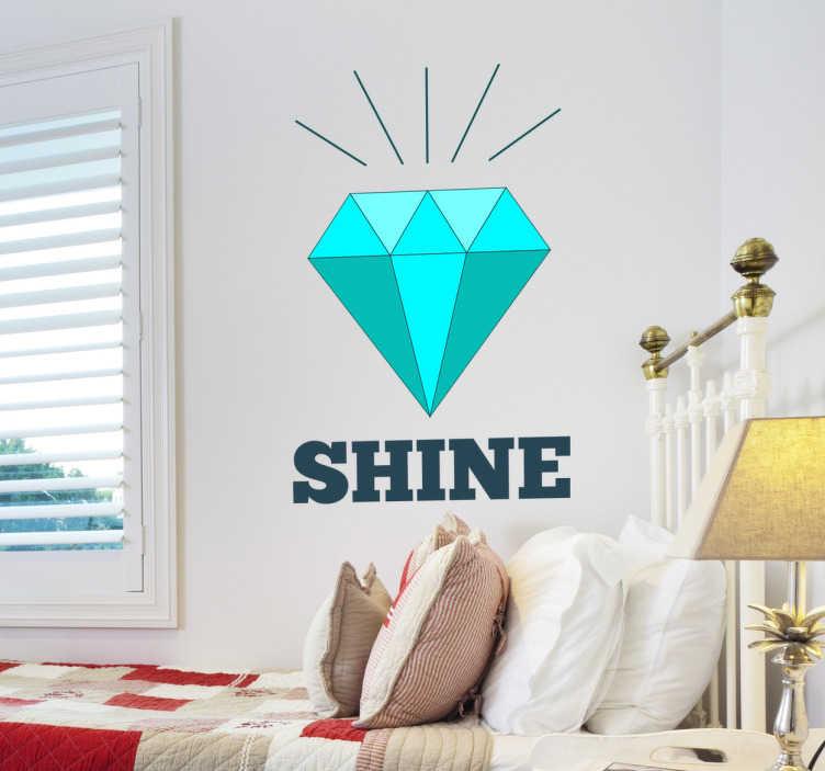 Sticker decorativo illustrazione diamante
