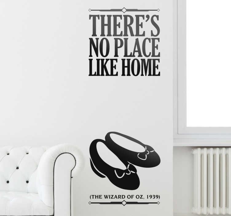 No Place Like Home Wall Sticker  sc 1 st  TenStickers & No Place Like Home Wall Sticker - TenStickers