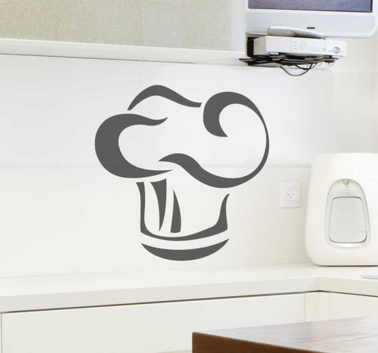 TenStickers. Chef Hat Kitchen Wall Sticker. Kitchen Decals - Great design of a chef´s hat for your cooking area. Add decoration to your kitchen in no time with the chef wall sticker!