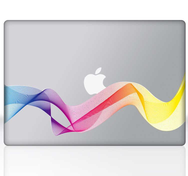 Skin adesiva portatile onda arcobaleno