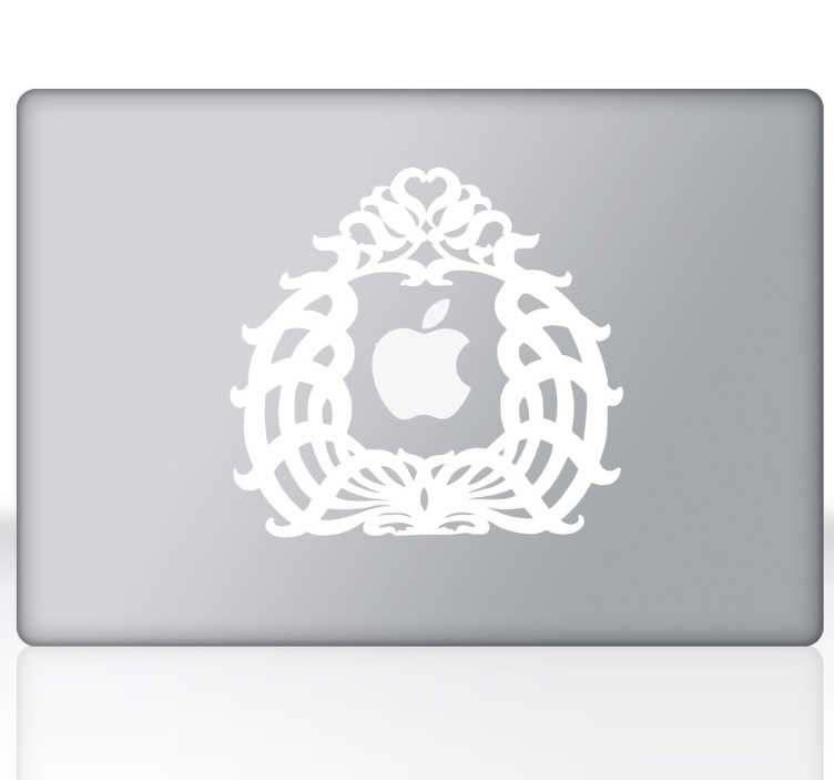 TenStickers. Bookplate Theme Laptop Sticker. An ex-libris design theme to decorate your personal laptop. A decal from our collection of MacBook stickers.