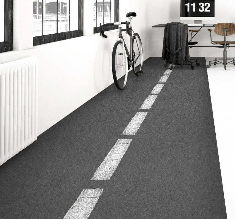 TenVinilo. Pieza vinilo carretera. Decora las paredes de tu casa con este espectacular adhesivo de asfalto con líneas discontinuas.