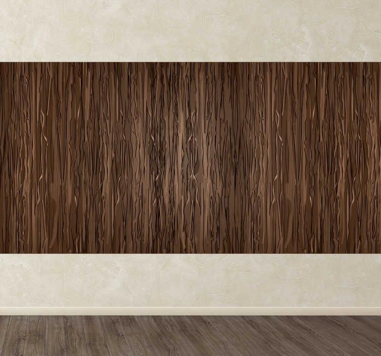 TenStickers. Naklejka tapeta drewno palmy kokosowej. Naklejka tapeta na ścianę przedstawiająca imitację drewna palmy kokosowej. Oryginalny pomysł na zmianę Twojego wnętrza.
