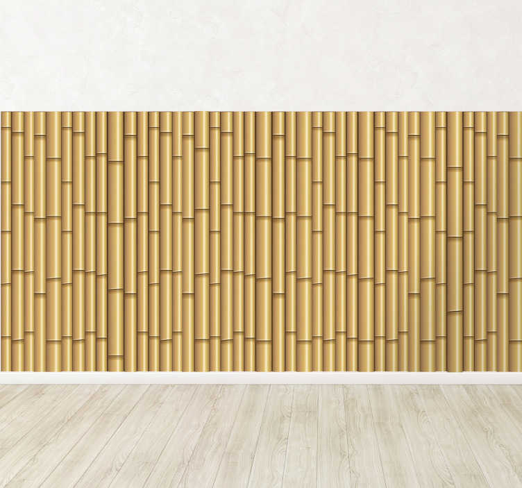 TenStickers. Bamboo Vinyl Sheet Sticker. Vinyl Stickers - Bamboo fence illusion. Great for decorating any room.