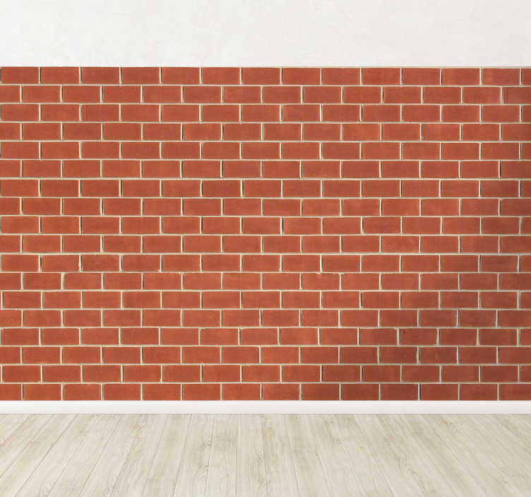 TenStickers. Naklejka mur. Naklejka na ścianę imitująca mur z czerwonej cegły. Marzysz o wnętrzu w stylu loft? W takim razie ta dekoracja sprawdzi się idealnie w Twoim domu!