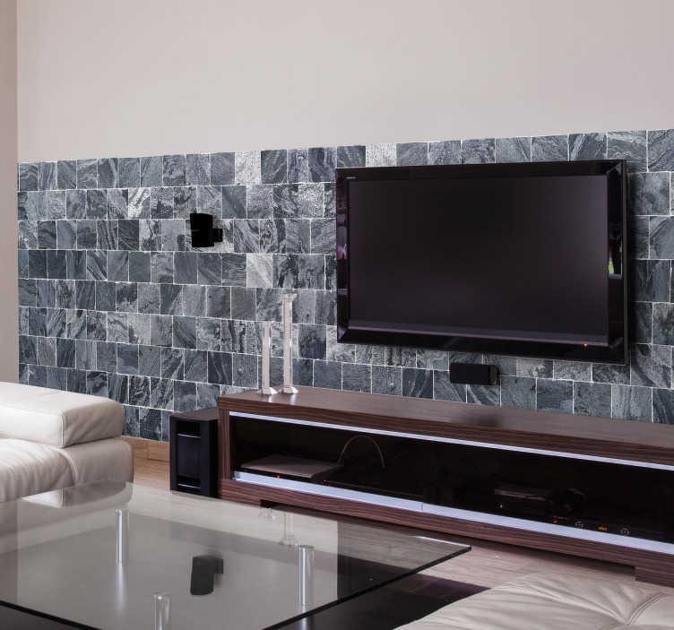 TenStickers. Pellicola adesiva effetto marmo. Elegante motivo ad effetto marmo per decorare con stile qualsiasi parete di casa. Un adesivo murale di grande impatto.