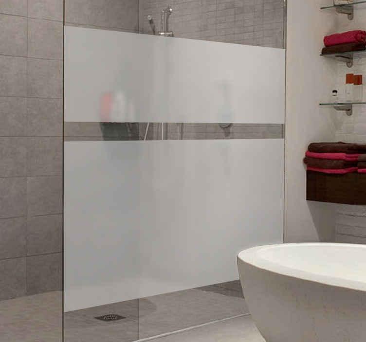 TenStickers. Autocolante para vidros translúcido. Autocolante decorativo para o seu chuveiro. Friso decorativo para ter privacidade. Coloque nas portas ou paredes de vidro.