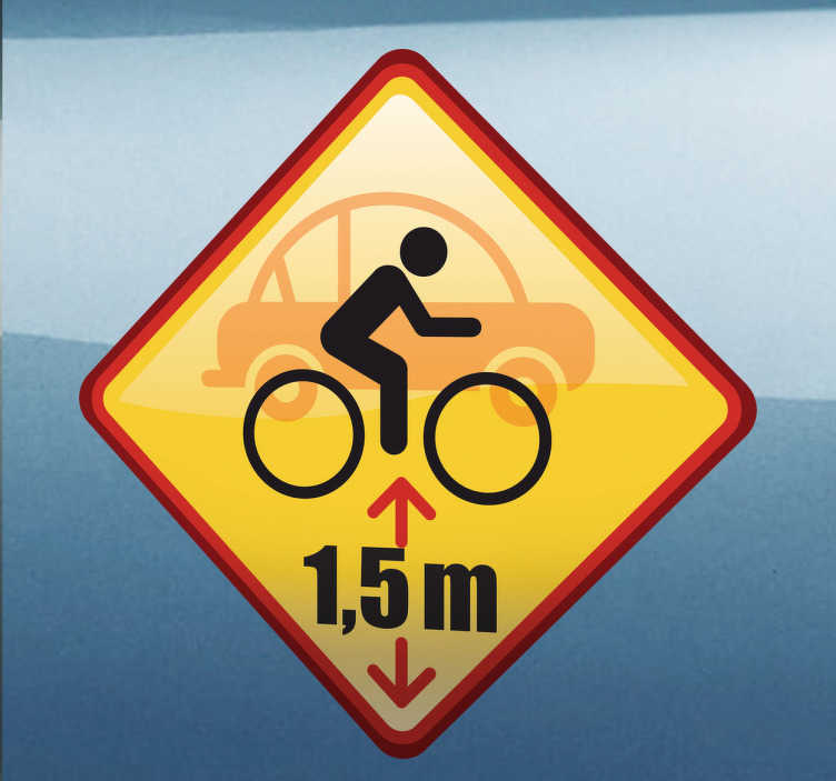 TenStickers. Distance Reminder Car Sticker. Car Stickers - Safe driving. A reminder to other vehicles to keep the safety distance of 1.5 meters. Available in various sizes.