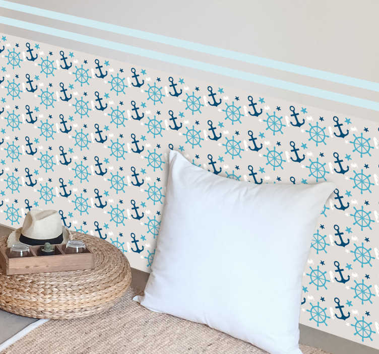 TenStickers. Sea Life Vinyl Sheet Decal. A superb design for the little ones at home. This decal from our collection of sea wall stickers is ideal to decorate your children's bedroom.