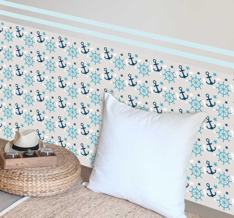 TenVinilo. Pieza vinilo motivos marinos. Ahora ya puedes decorar tu casa con un papel adhesivo inspirado en el fondo del océano.