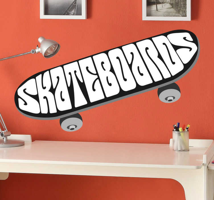 TenStickers. Skateboard Decorative Logo Decal. Attractive decorative vinyl sticker designed exclusively for those fans of the world of skateboarding and longboarding.