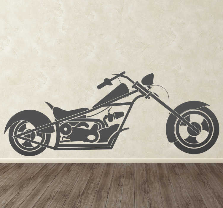 TenStickers. Chopper Bike Decorative Decal. Do you love motorcycles? And you empty walls at home? Decorate your home with this great chopper bike wall sticker.